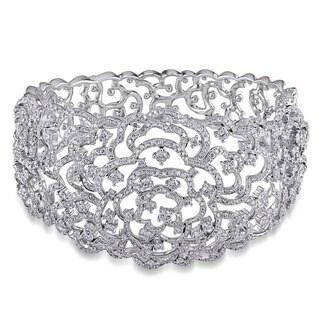 Miadora Signature Collection 14k White Gold 8 1/8ct TDW Diamond Bangle Bracelet (G-H, I1-I2)