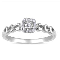 Miadora Sterling Sliver 1/10ct TDW Diamond  Ring (G-H, I2)