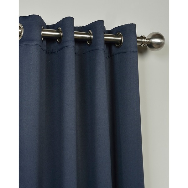 Eclipse Blue Thermal Blackout Curtain Panel Pair