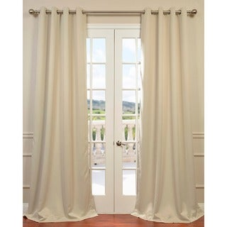 Beige Thermal Blackout Curtain Panel Pair