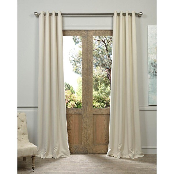 EFF Beige Thermal Blackout Curtain Panel Pair