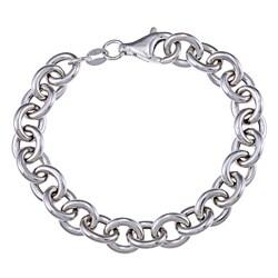 Sterling Silver Link Charm Bracelet