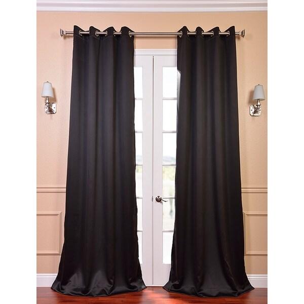 Jet Black Thermal Blackout Curtain Panel Pair