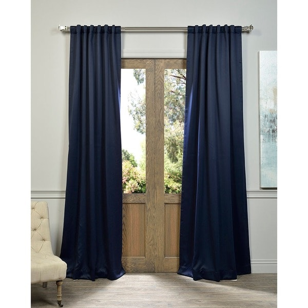 Exclusive Fabrics Navy Blue Thermal Blackout Curtain Panel Pair