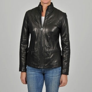 Knoles & Carter Women's Quilt Stitched Leather Jacket
