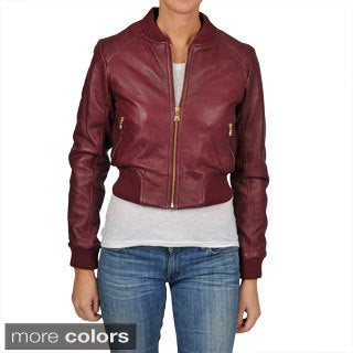 Knoles & Carter Women's Perforated Bomber Jacket
