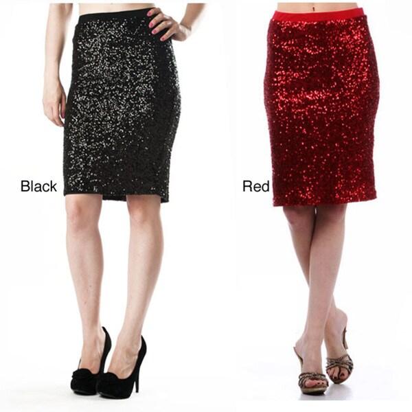Tabeez Women's Sequin Party Skirt