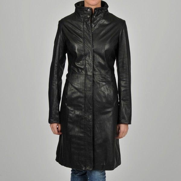 Knoles & Carter Women's 7/8-length Clean Leather Jacket
