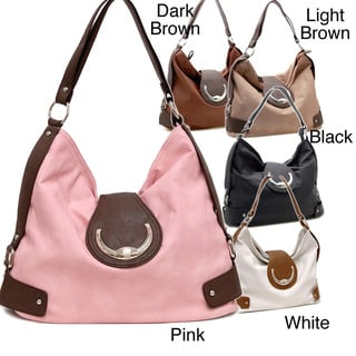 Dasein Faux Leather Belted Hobo Bag