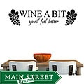 Vinyl 'Wine a Bit, You'll Feel Better' Wall Decal