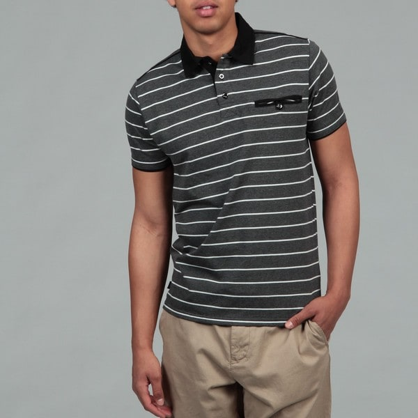 MO7 Men's Striped Polo Shirt