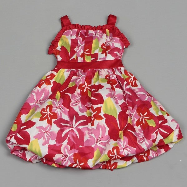 Dorissa Girl's Floral Bubble Valerie Dress