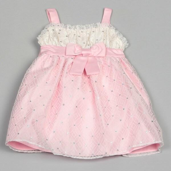 Dorissa Infant Girl's Overlay Sequins and Lace Jennifer Dress