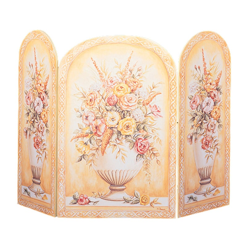 Vases Yellow/ White Fire Screen