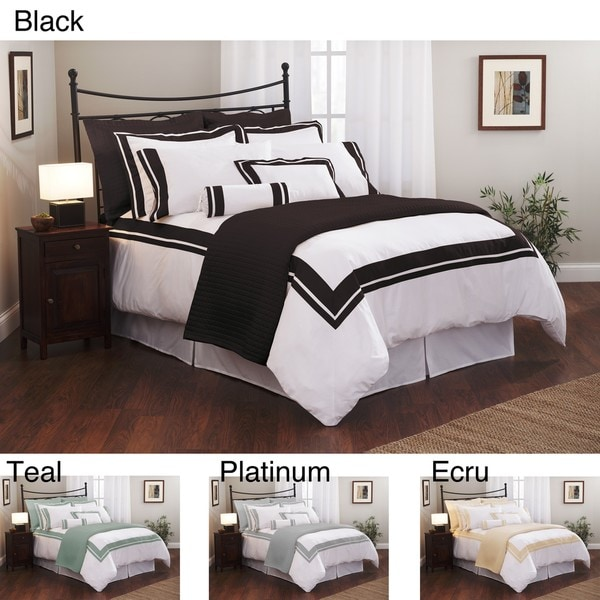 Roxbury Park Inlay Queen-size 3-piece Duvet Cover Set