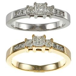 Auriya 14k Gold 1/2ct TDW Princess Diamond Engagement Ring (I-J, I1-I2)