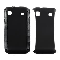 INSTEN Black/ Black Hybrid Phone Case Cover for Samsung Vibrant T959 Cell Phone