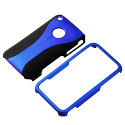 INSTEN Dark Blue/ Black Cup Shape Snap-on Phone Case Cover for Apple iPhone 3G/ 3GS