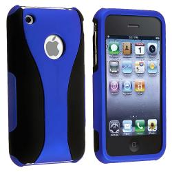 Dark Blue/ Black Cup Shape Snap-on Case for Apple iPhone 3G/ 3GS