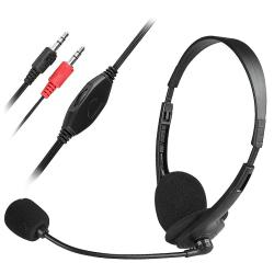 Black VOIP/ SKYPE Hands-free Headset with Microphone