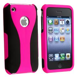 Hot Pink/ Black Cup Shape Snap-on Case for Apple iPhone 3G/ 3GS