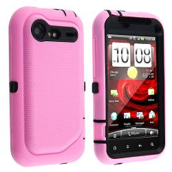 Black/ Pink Hybrid Case for HTC Droid Incredible 2