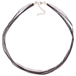 Bleek2Sheek Black Organza and Leather Necklace Cord (Set of 2)