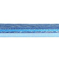 Bleek2Sheek Blue Silver-lined Organza and Leather Necklace Cord (Set of 2)