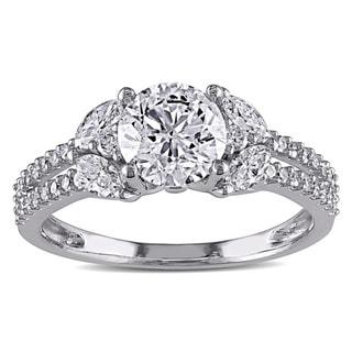 Miadora 14k White Gold 1 1/2ct TDW Diamond Engagement Ring (G-H, I1-I2)