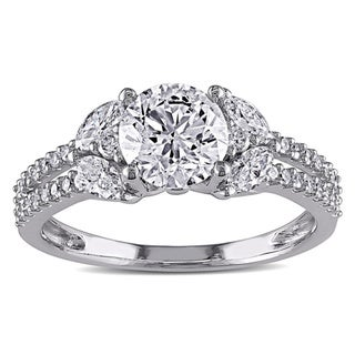 SHIRA 14k White Gold 1 1/2ct TDW IGL-certified Vintage Diamond Ring (G-H, I1-I2)