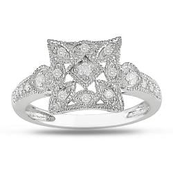 Miadora 10k White Gold 1/7ct TDW Diamond Ring (G-H, I2-I3)