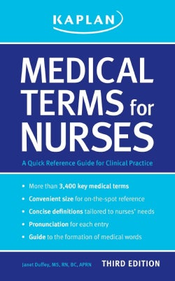 Medical Terms for Nurses: A Quick Reference Guide (Paperback)