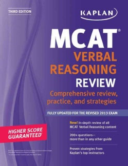 Kaplan MCAT Verbal Reasoning Review (Paperback)