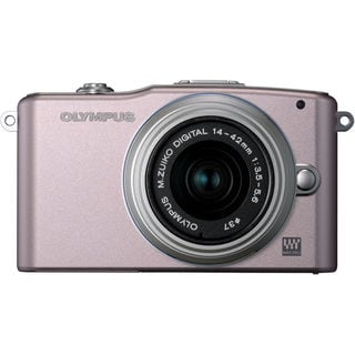 Olympus E-PM1 12MP Pink Digital Camera with 14-42mm II Lens