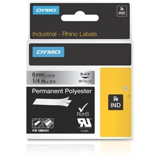 """Dymo 1/4"""" Permanent Polyester Tape for Industrial Purposes"""