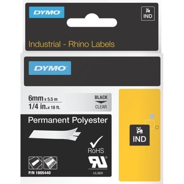 Dymo Black on Clear ID Label