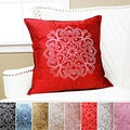 Henna Rhinestone Stud Velvet Pillow 19 x 19 (Set of 2)