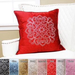 Henna Rhinestone Stud Velvet Pillow 19 x 19 (Set of 2)