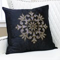 Golden Snowflake Rhinestone Stud Velvet Pillow 19 x 19 (Set of 2)