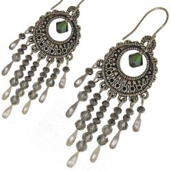 Misha Curtis Silver Bohemian Crystal Earrings