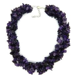 Pearlz Ocean Sterling Silver Amethyst Chips Necklace