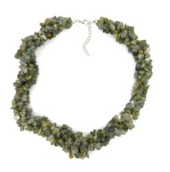 Pearlz Ocean Sterling Silver Labradorite Chips Necklace