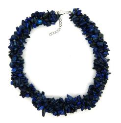 Pearlz Ocean Sterling Silver Lapis Lazuli Chips Necklace