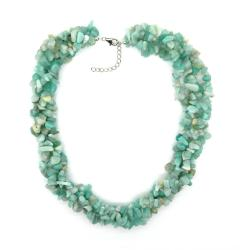 Pearlz Ocean Sterling Silver Amazonite Chips Necklace