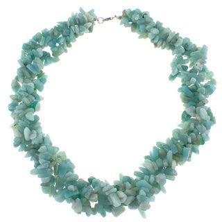 Pearlz Ocean Amazonite Chip Necklace