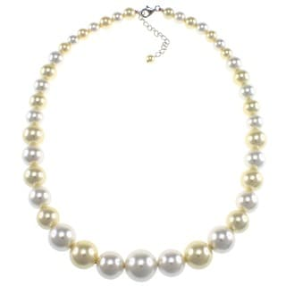 Pearlz Ocean Sterling Silver Shell Pearl Journey Necklace (6-16 mm)
