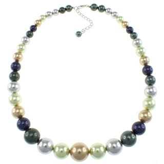 Pearlz Ocean Multi-colored Shell Pearl Journey Necklace