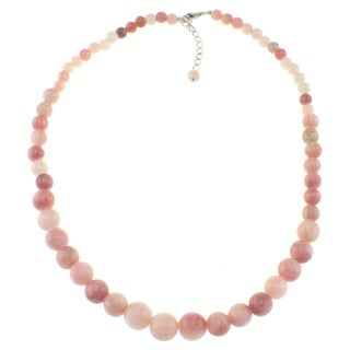 Pearlz Ocean Sterling Silver Pink Opal Journey Necklace