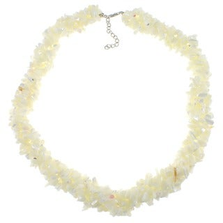 Pearlz Ocean Sterling Silver Mother of Pearl Chips Necklace
