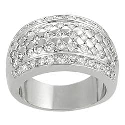 Tressa Collection Silvertone Round-cut Cubic Zirconia Bridal & Engagement Ring